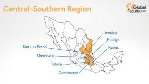 "An der ""Global Faculty Week 2021"" beteiligte Campus des Tec de Monterrey"